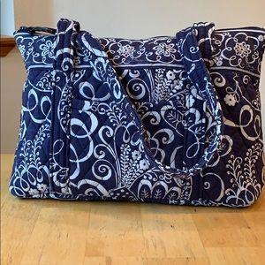 Vera Bradley Tote Handbag • Twirly Birds Navy
